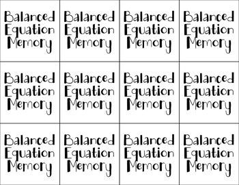 Balanced Equation Memory