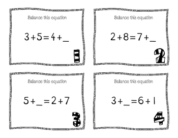 Balanced Equation Scoot- Addition to 10
