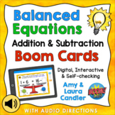 Balanced Equations Addition & Subtraction Boom Cards - Dig
