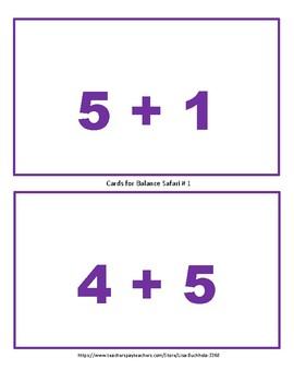 Balanced Equations Safari: Addition and Subtraction