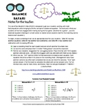 Balanced Equations Safari: Addition and Subtraction