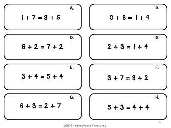 Balanced Equations Using Addition - Grades 1-2