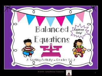Balanced Equations Using Addition - Grades 1-2