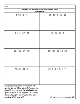 Balanced Equations and Estimating Differences