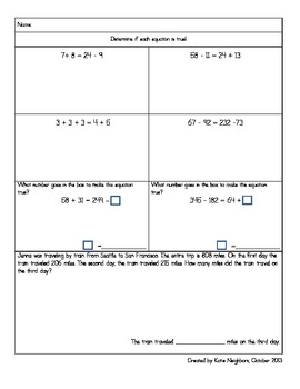 Balanced Equations and Estimation