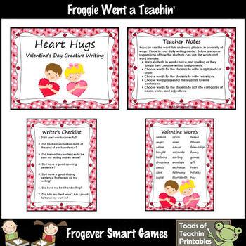 Valentine's Day--Heart Hugs Valentine's Day Creative Writing