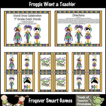 Mardi Gras--First Grade Dolch Words