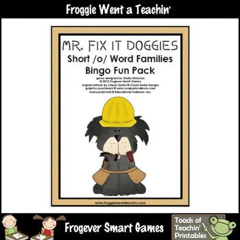 Balanced Literacy Center -- Mr. Fix-It Doggies (short o word families)