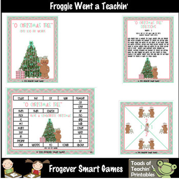 Balanced Literacy Center -- O Christmas Tree (first 100 Fry Words)