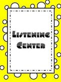 Balanced Literacy Center Posters- Polka Dots and Yellow