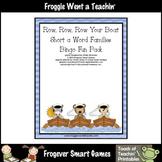 Balanced Literacy Center -- Row, Row, Row Your Boat (short a word families)