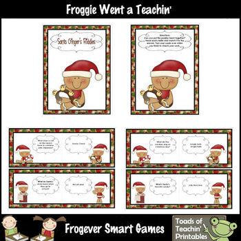 Balanced Literacy Center -- Santa Ginger's Riddles