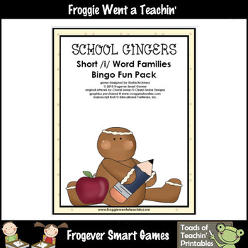 Balanced Literacy Center -- School Gingers (short i word families)