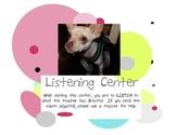 Balanced Literacy ~ Center Signs ~ Listening