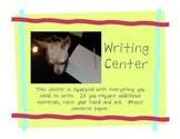 Balanced Literacy ~ Center Signs ~ Writing