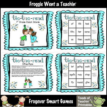 "Pre-Primer, Primer, First Grade Dolch Words--""Tic-Tac-Read"""