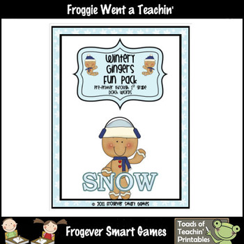 Balanced Literacy Center -- Wintery Gingers Fun Pack (133 words)