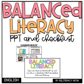 Balanced Literacy Classroom PPT Presentation & Checklist! Real-Life Pictures!