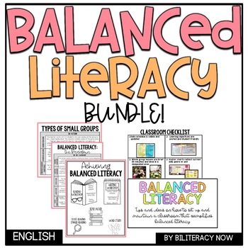 BUNDLE Balanced Literacy Components + Classroom Checklist PPT Presentation!