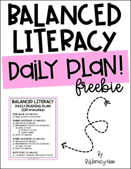 Balanced Literacy Daily Plan - FREEBIE!