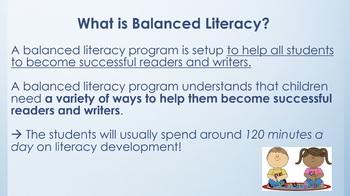Balanced Literacy Expectations for Elementary Teachers (Powerpoint)