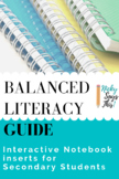 Balanced Literacy Guides - Inserts for Interactive Notebooks
