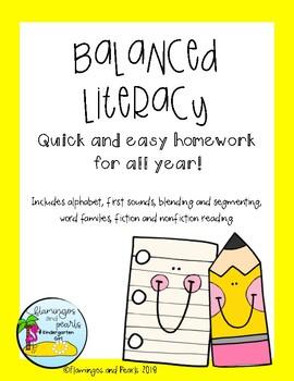 Balanced Literacy Homework for All Year Long!
