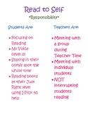 Balanced Literacy Read to Self Anchor Chart