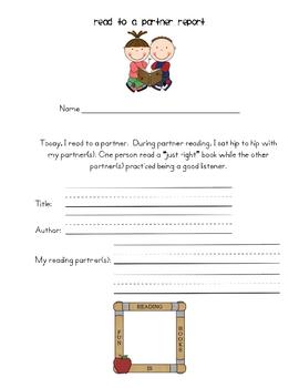 Balanced Literacy Recording Sheets