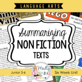 Summarizing Non Fiction Texts Unit