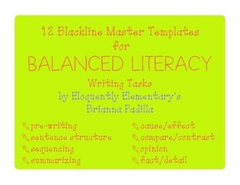 Balanced Literacy: Writing Templates