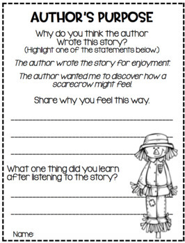 Teaching Comprehension Strategies with Favorite October Literature...Scarecrows!