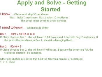 Grade 7 and 8 - Balanced Math Factoring Activities - mini unit