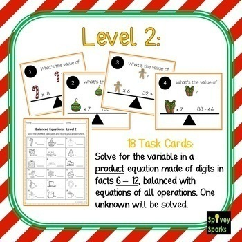 Winter Multiplication and Division Logic Cards
