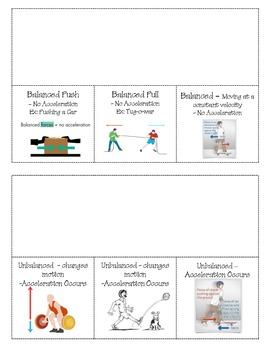 Balanced / Unbalanced Forces Flipchart