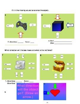 Balanced/ Unbalanced Forces Homework
