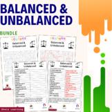 Balanced and Unbalanced Science Activity Bundle Scramble W