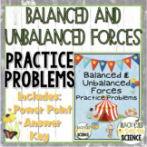 Balanced and Unbalanced Forces Practice Problems