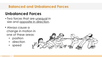 Balanced and Unbalanced Forces Complete 5E Lesson Plan