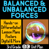 Balanced and Unbalanced Forces 5E Unit Plan for Force and Motion Third Grade