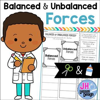 Balanced And Unbalanced Forces Cut And Paste Distance Learning Compatible