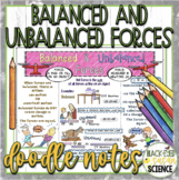 Balanced and Unbalanced Forces Doodle Notes (NGSS)