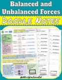 """Balanced and Unbalanced Forces """"Doodle"""" Style Notes"""