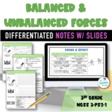 Balanced and Unbalanced Forces Examples