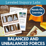 Balanced and Unbalanced Forces Inquiry Labs