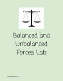 Balanced and Unbalanced Forces Lab
