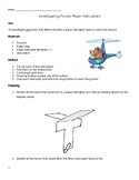 Balanced and Unbalanced Forces - Paper Helicopter Investigation