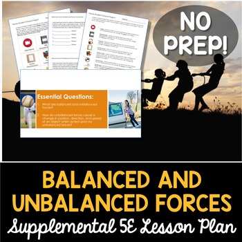 Balanced and Unbalanced Forces - Supplemental Lesson - No Lab