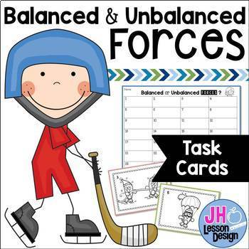 Balanced and Unbalanced Forces Task Cards