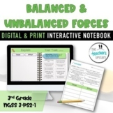 Balanced and Unbalanced Forces Worksheets, with answer key
